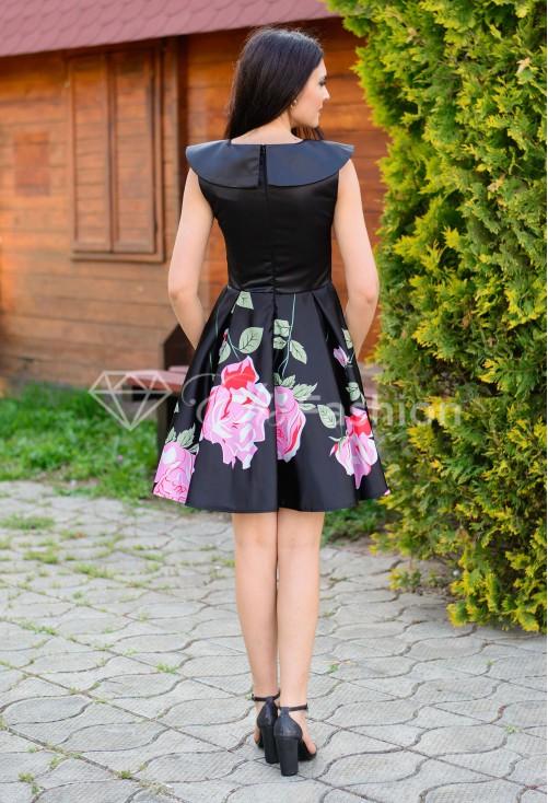 Rochie Ella Collection Rose Base Black