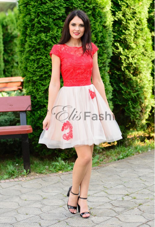 Rochie Ella Collection Baby Lace Red