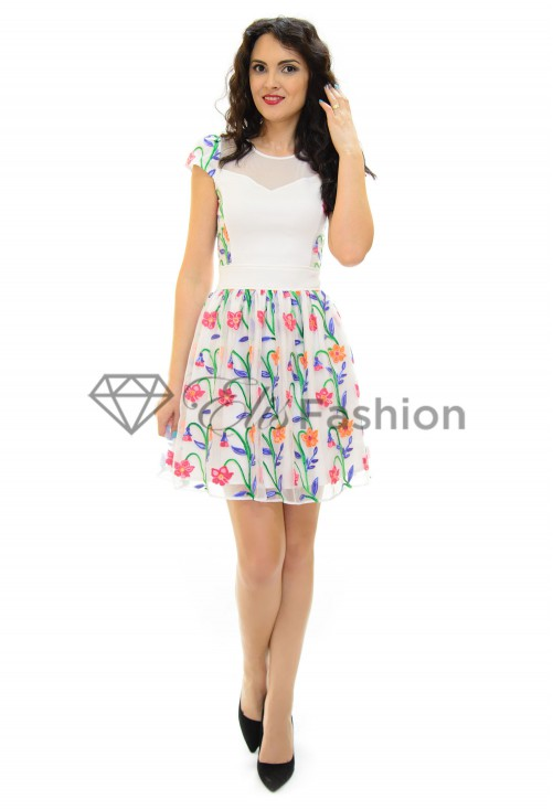 Rochie Ella Collection Fun Brightness White