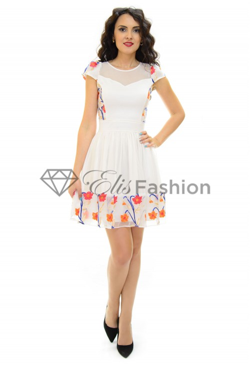 Rochie Ella Collection Precious Time White