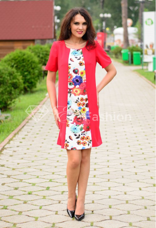 Rochie Ella Collection Soft Intuition Red