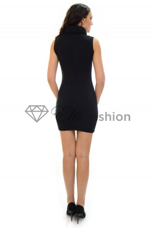 Rochie Tricotata Sequins Black