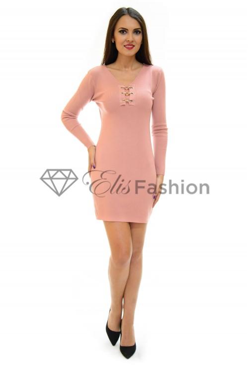 Rochie Tricotata Chain Pink