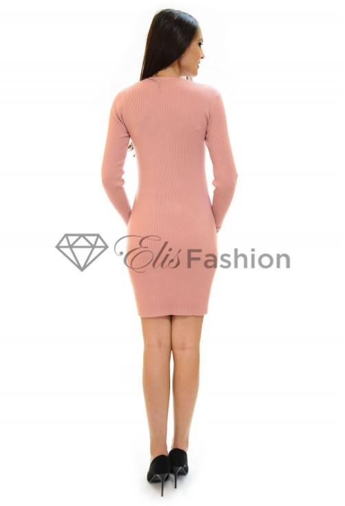 Rochie Tricotata Golden Lit Pink