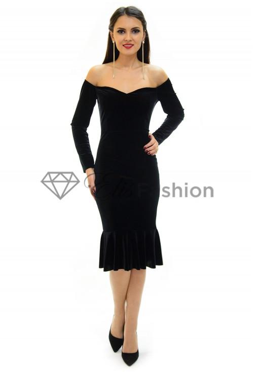 Rochie Velvet Diva Black