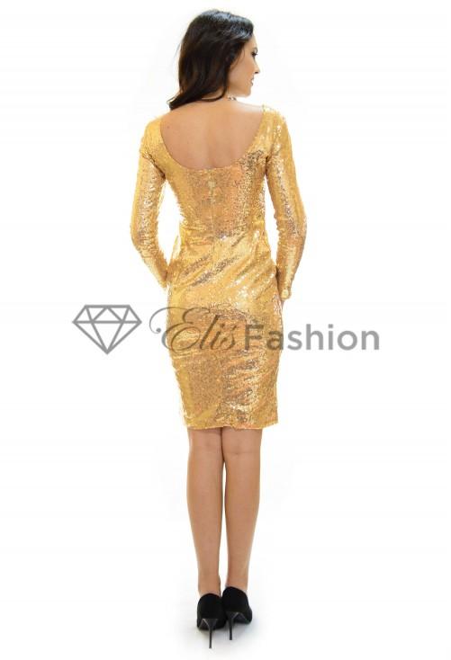 Rochie Glittering Gold