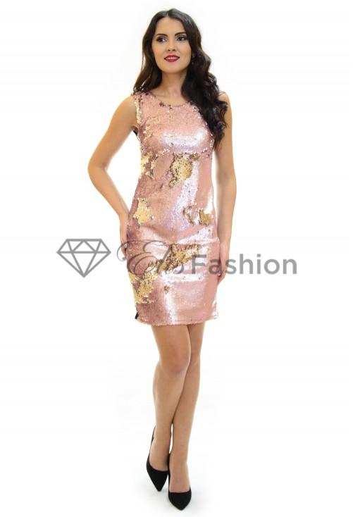 Rochie Shiny Switch Pink