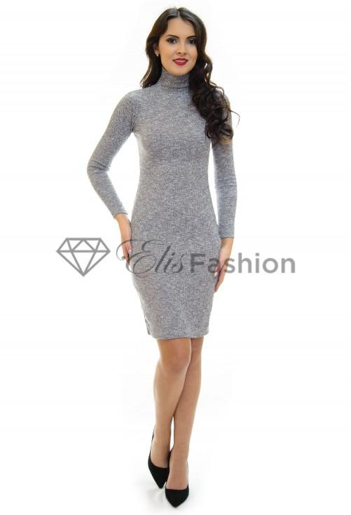Rochie Tricotata Sleek Fit Grey