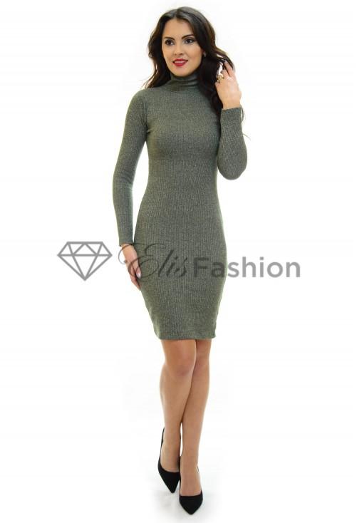 Rochie Tricotata Sleek Fit Green