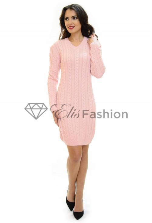 Rochie Tricotata Inside Pattern Pink