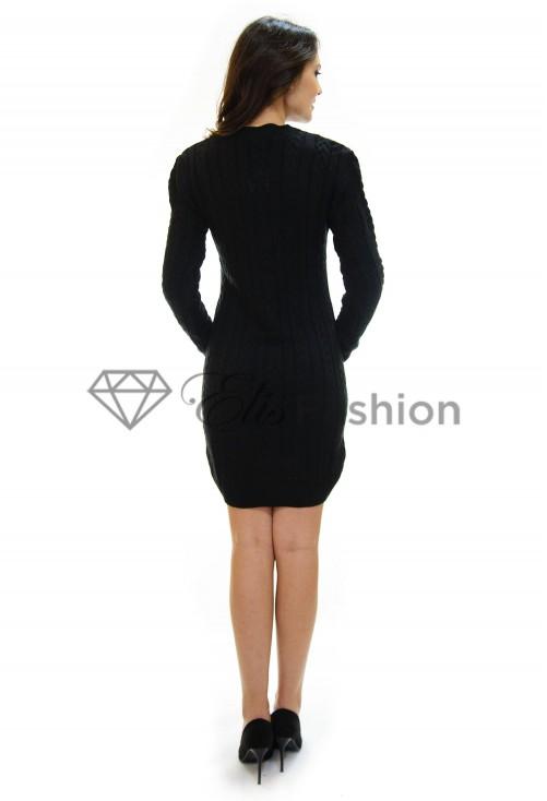 Rochie Tricotata Inside Pattern Black
