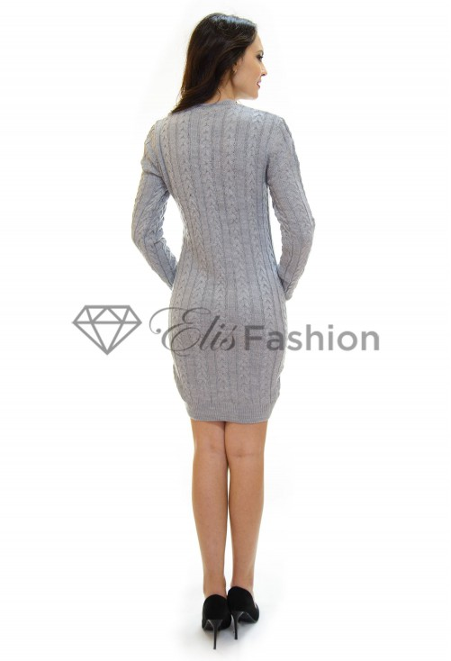 Rochie Tricotata Inside Pattern Grey