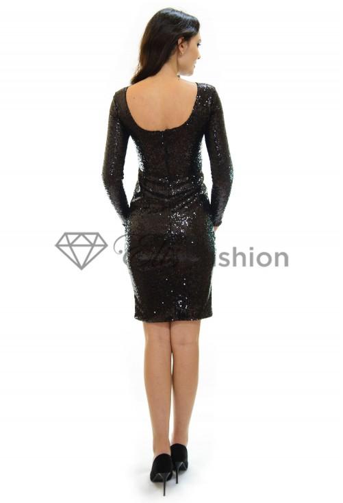 Rochie Glittering Black