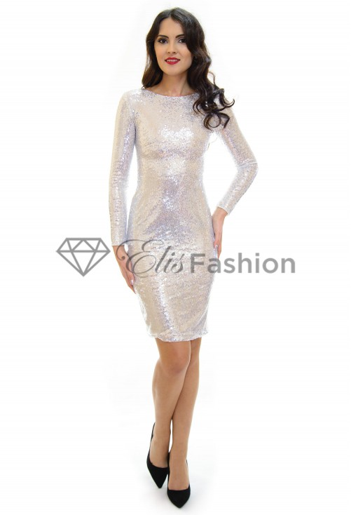 Rochie Glittering Silver