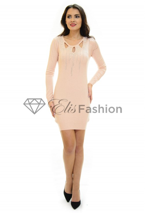 Rochie Tricotata All Sparkly Rose