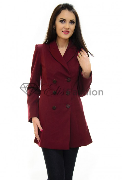 Trench Ella Collection Feminine Experience Burgundy