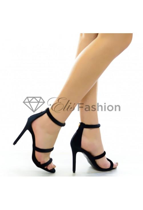 Sandale Fresh Velvet Black #4657