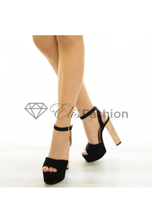 Sandale Sparkle More Black #6844