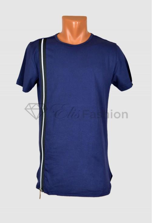 Tricou Zipper DarkBlue