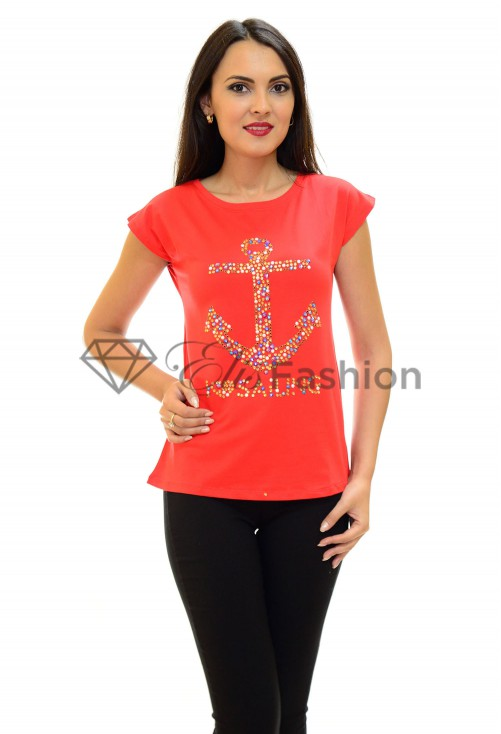Tricou Sailing Sparkle Red