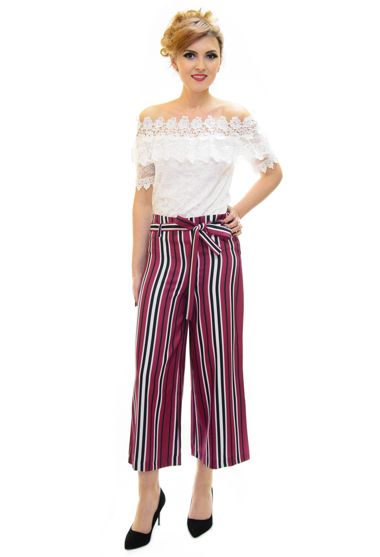 Pantaloni Culotte Modern Legacy Plum