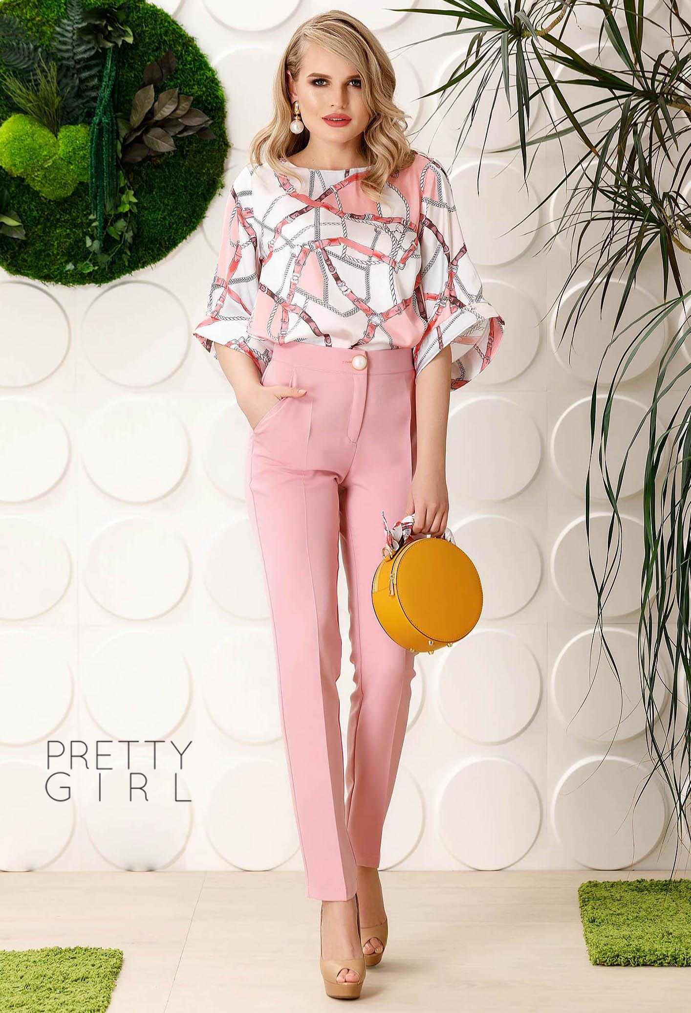 Pantaloni Pretty Girl Front Space Pink