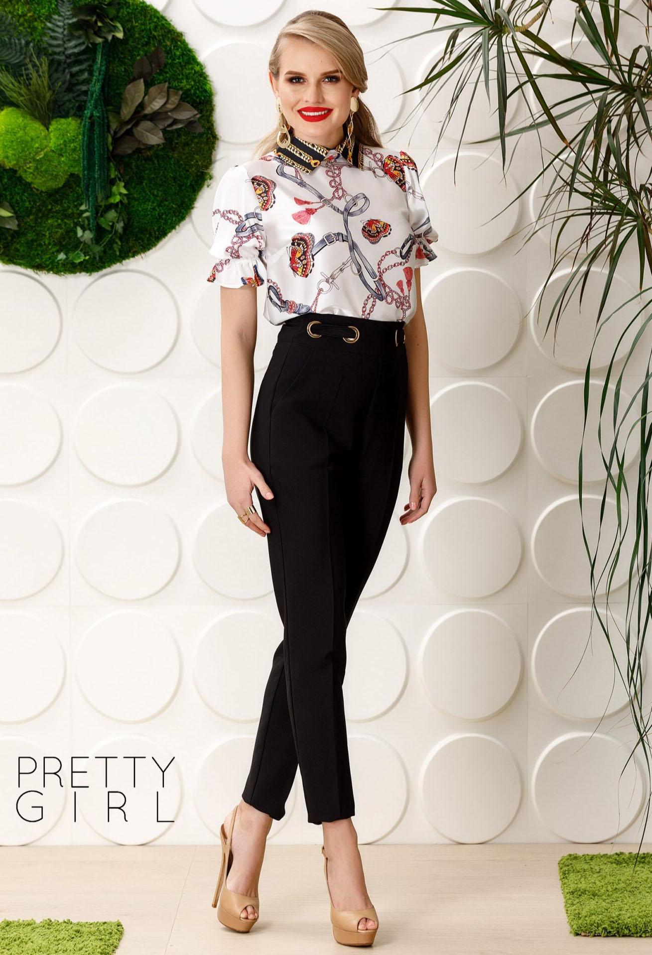 Pantaloni Pretty Girl Golden Story Black