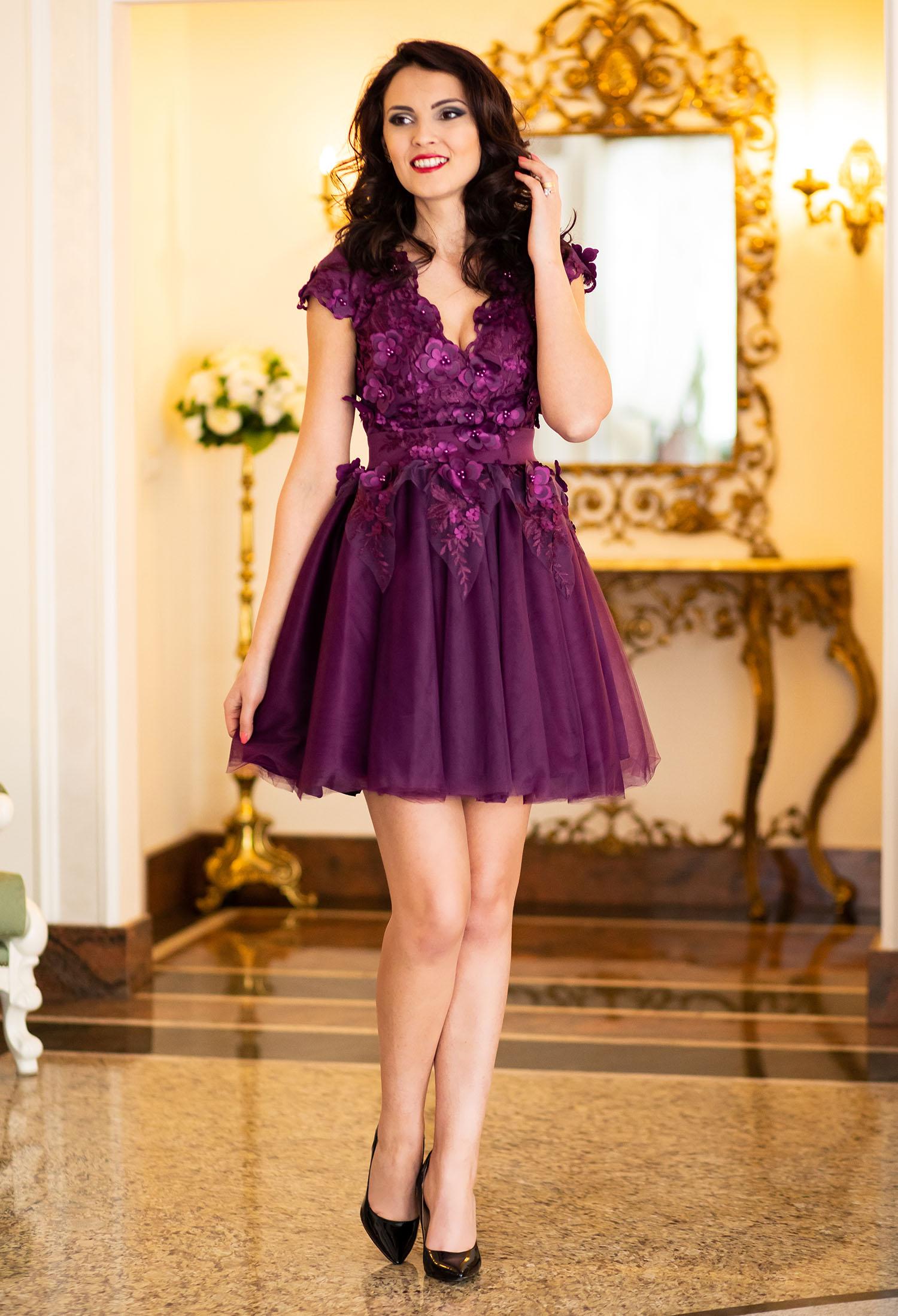 Rochie Ella Collection Mesmerize Purple