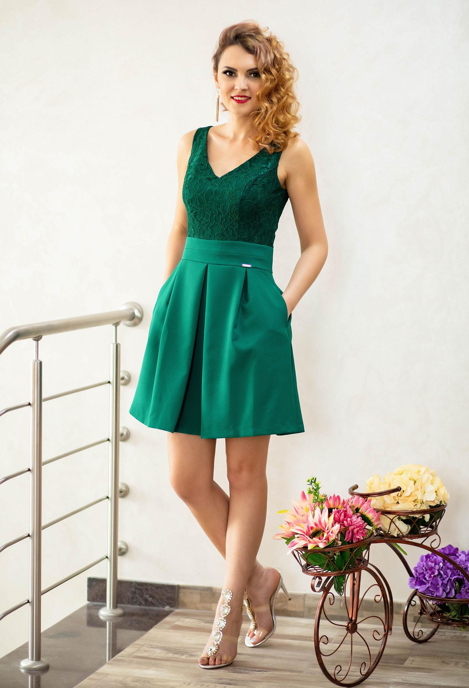 Rochie Designing Fascination Green