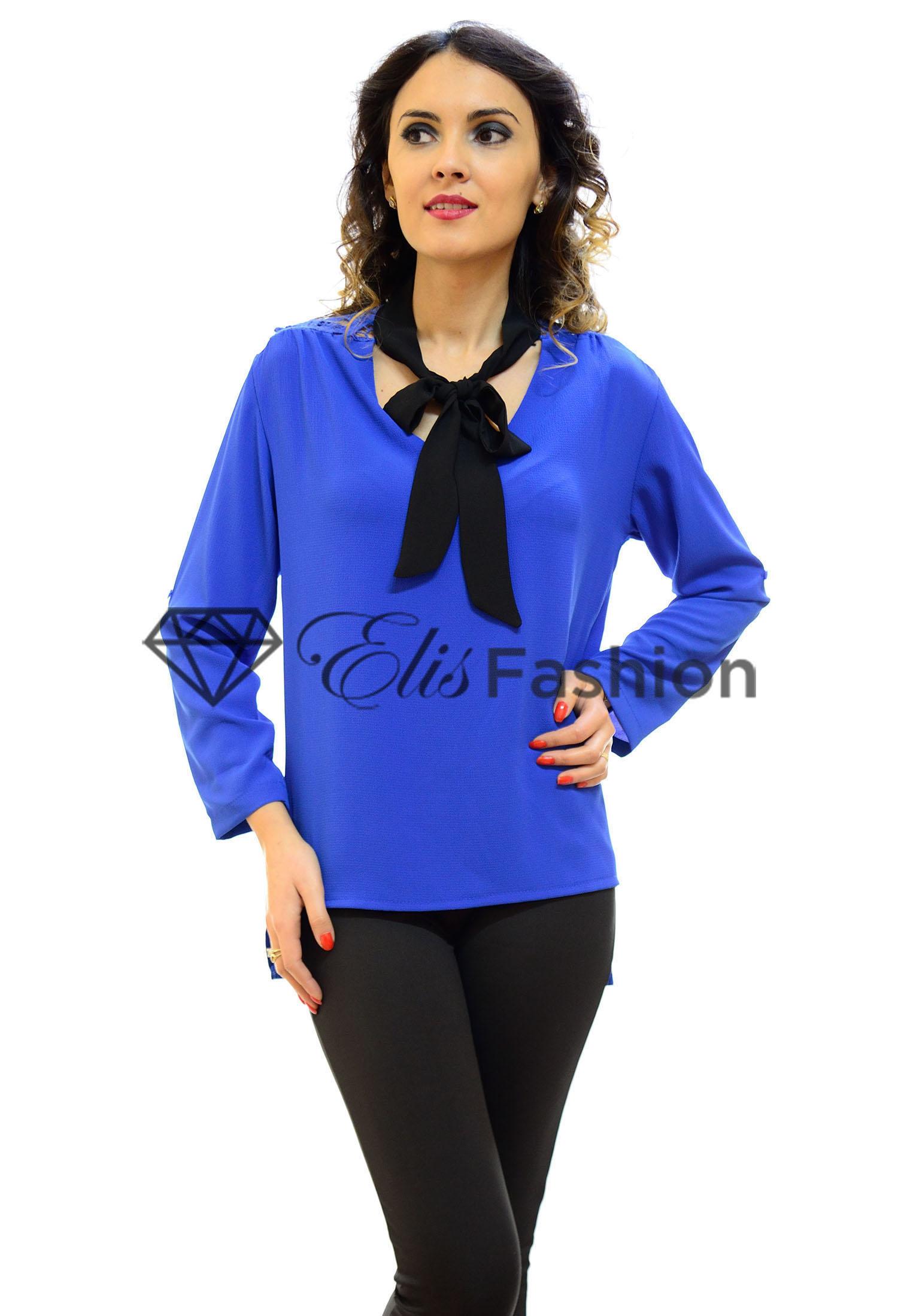 Bluza Scarf Bow Blue