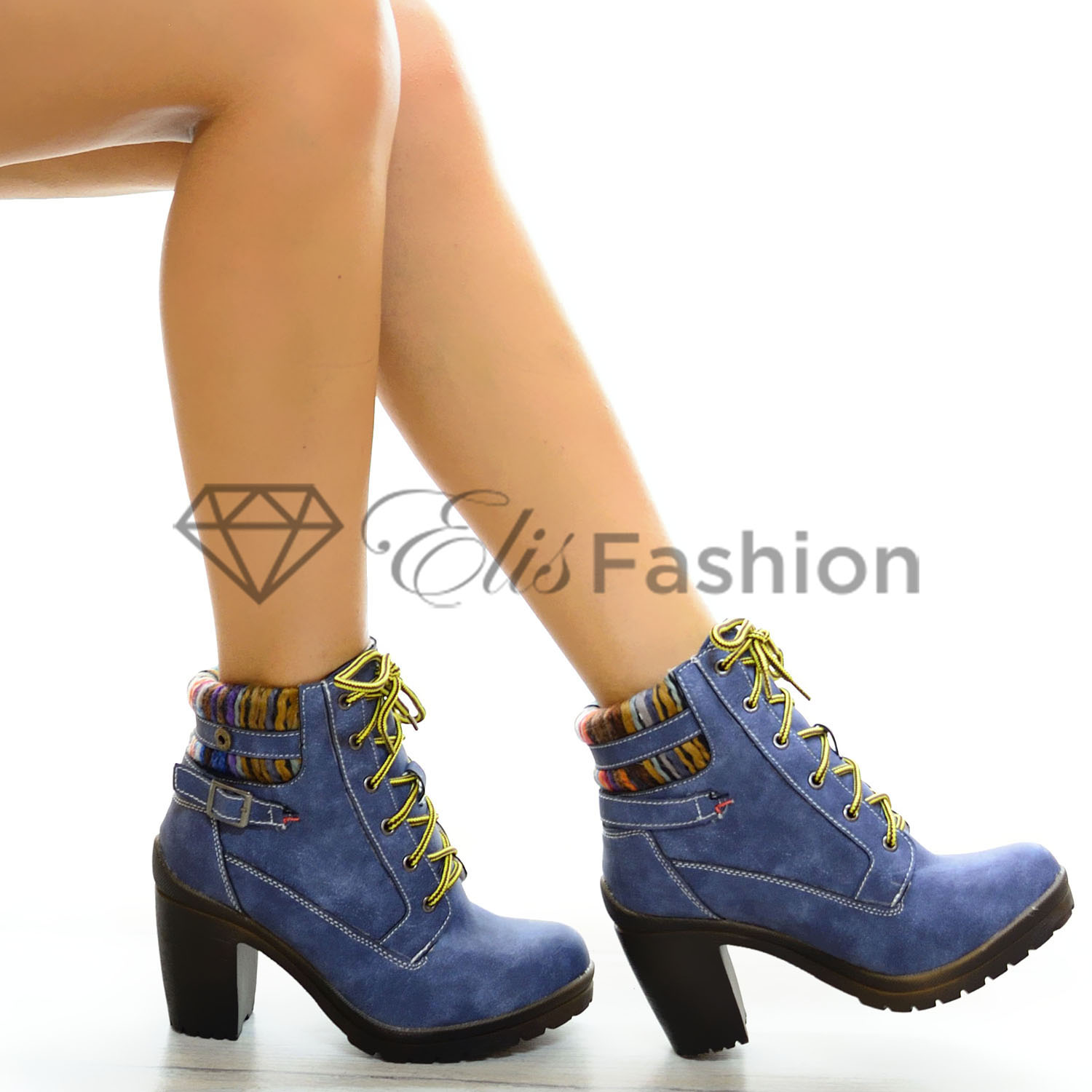 Botine Navy Winter #5323
