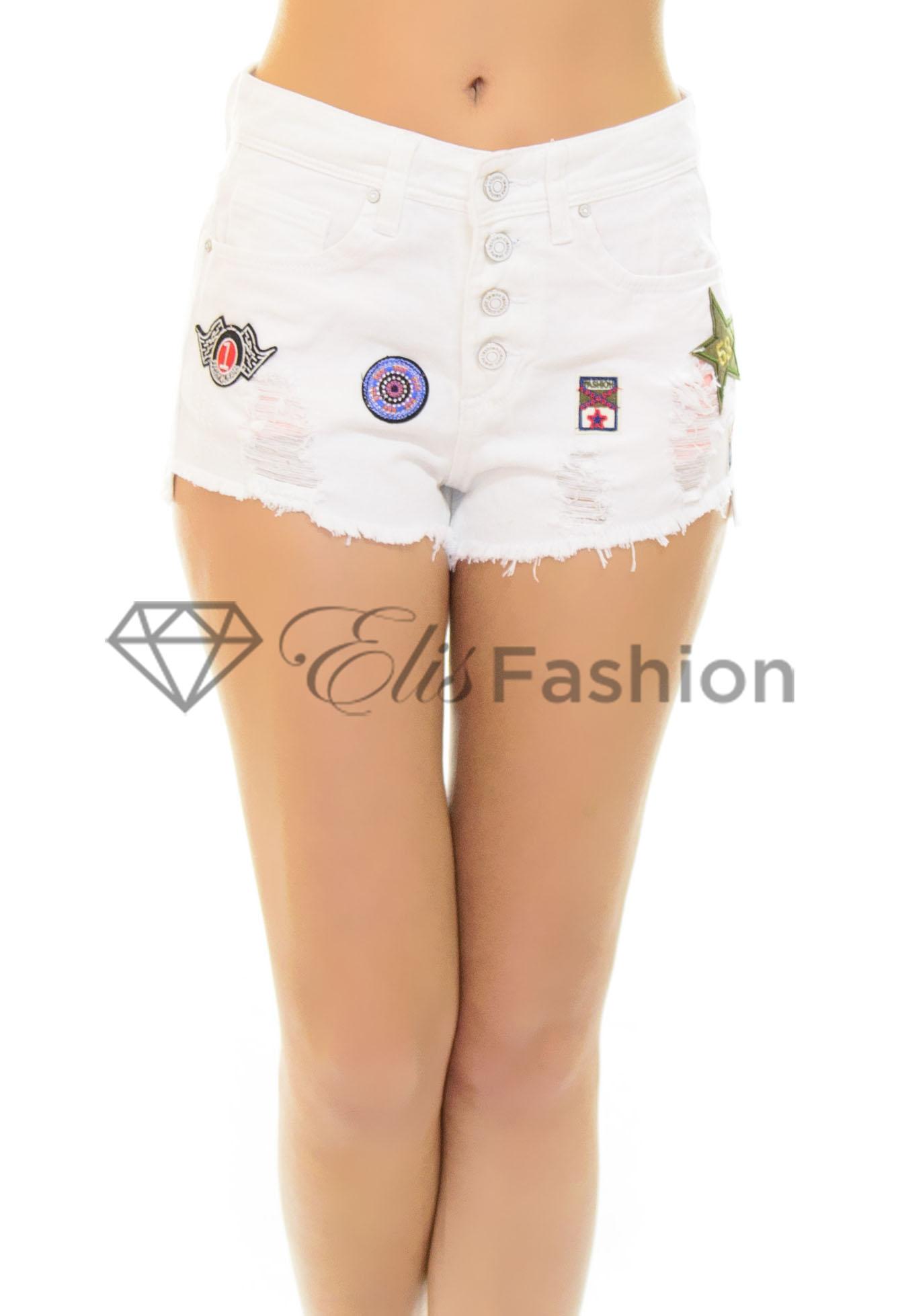 Pantaloni Scurti Distracted White