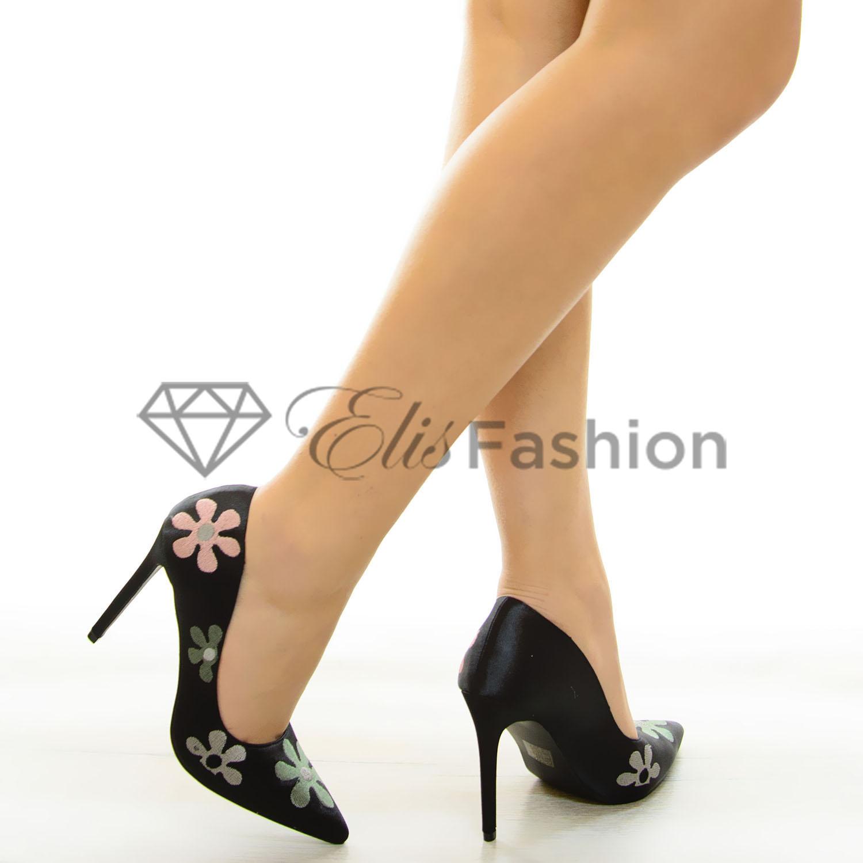 Pantofi Sweet Flowers Black #6845