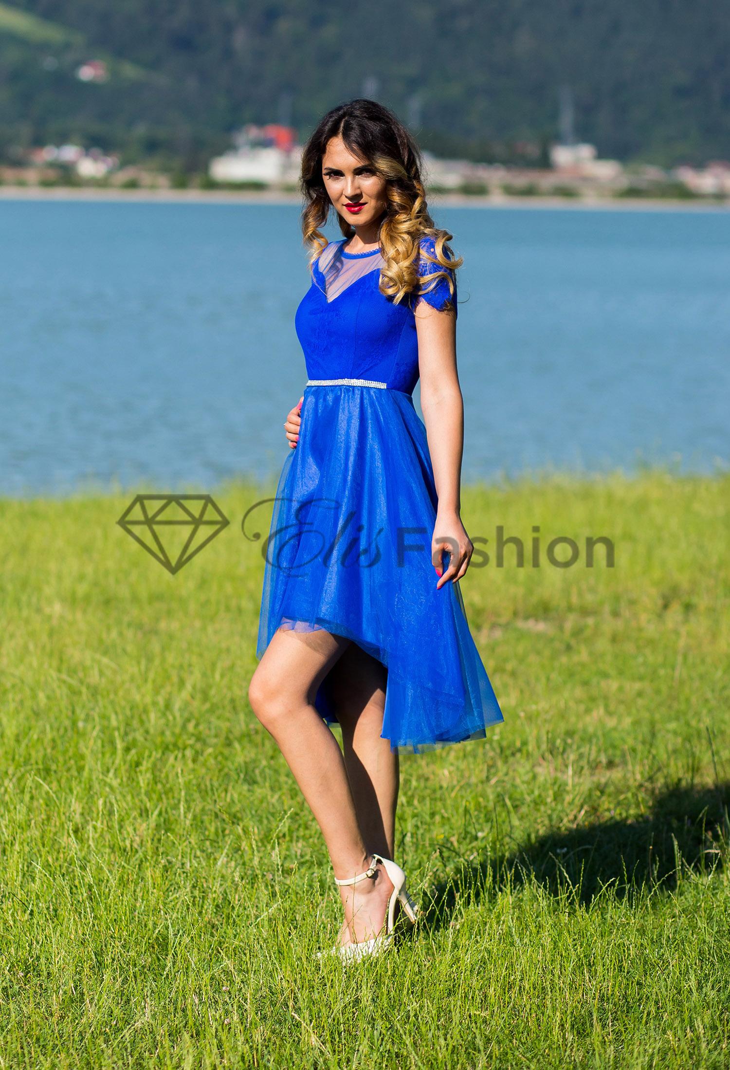 Rochie Printer Subject Royal Blue