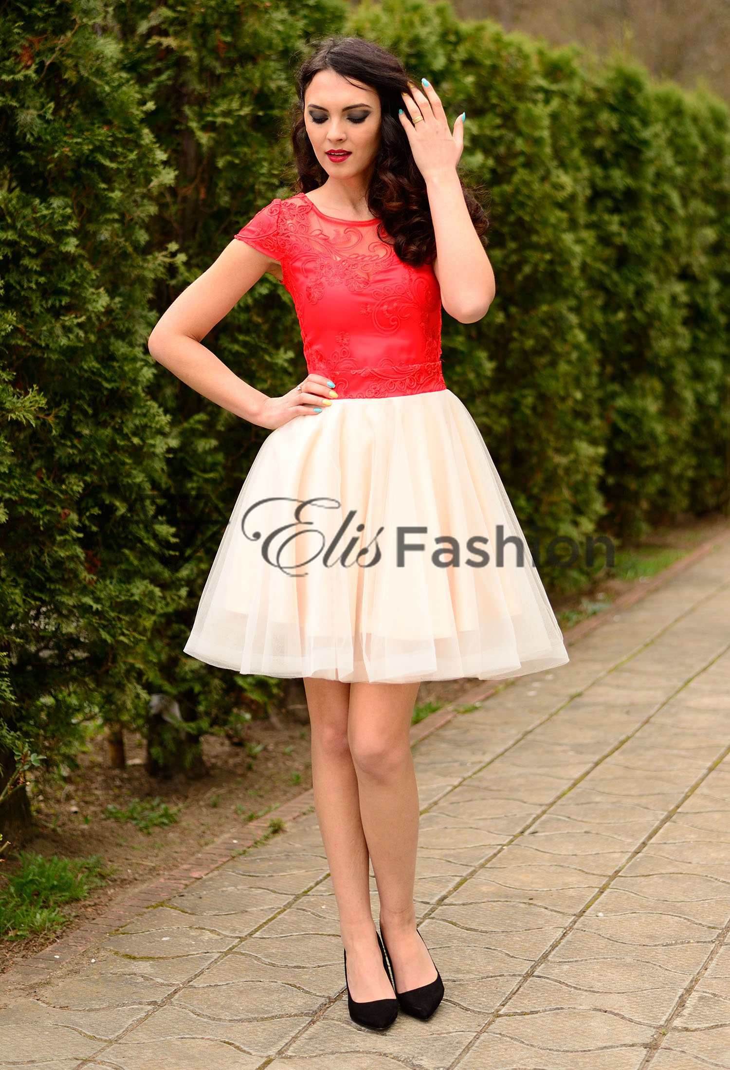 Rochie Ella Collection Red Flimsy