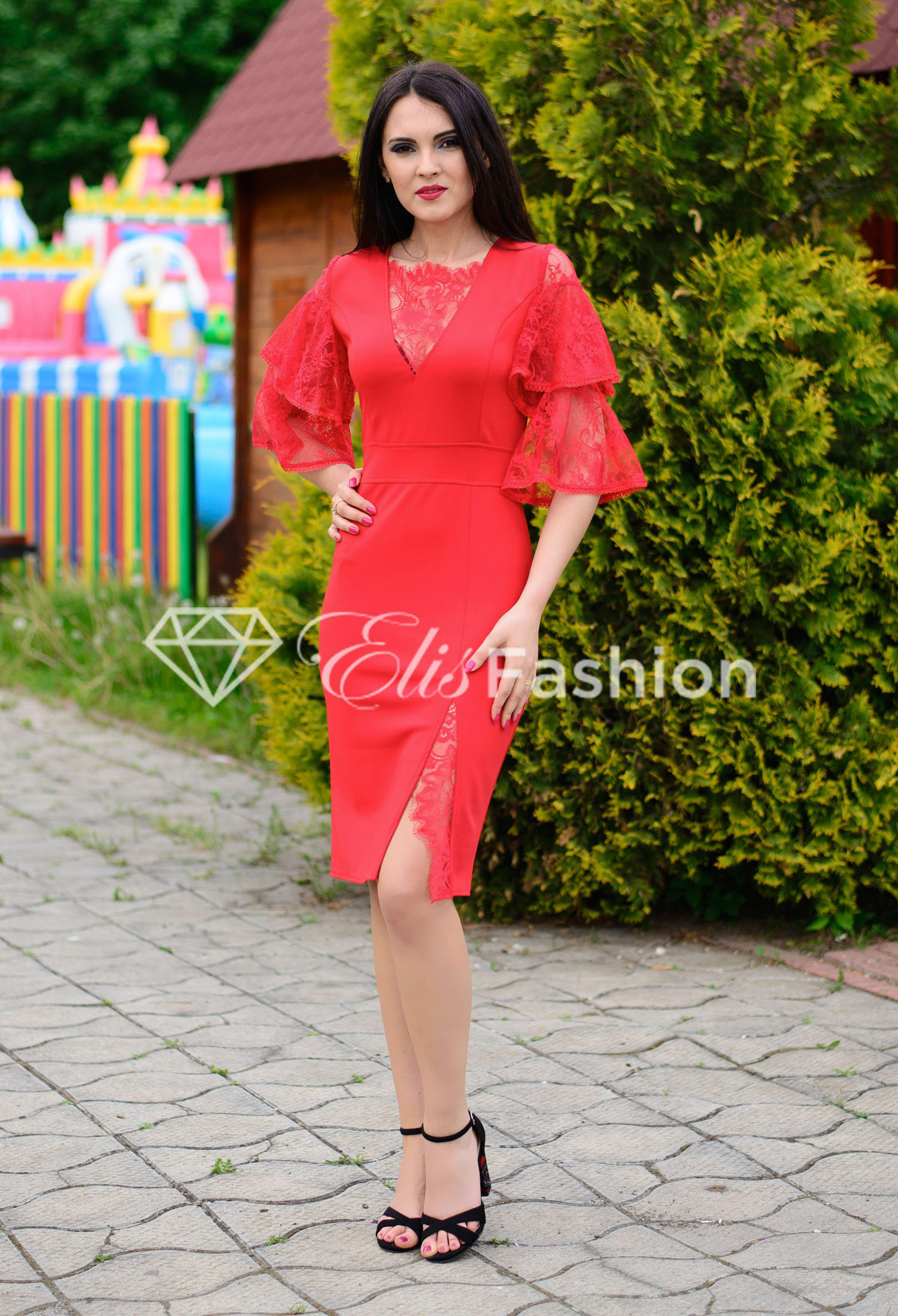 Rochie Ella Collection Instant Happiness Red