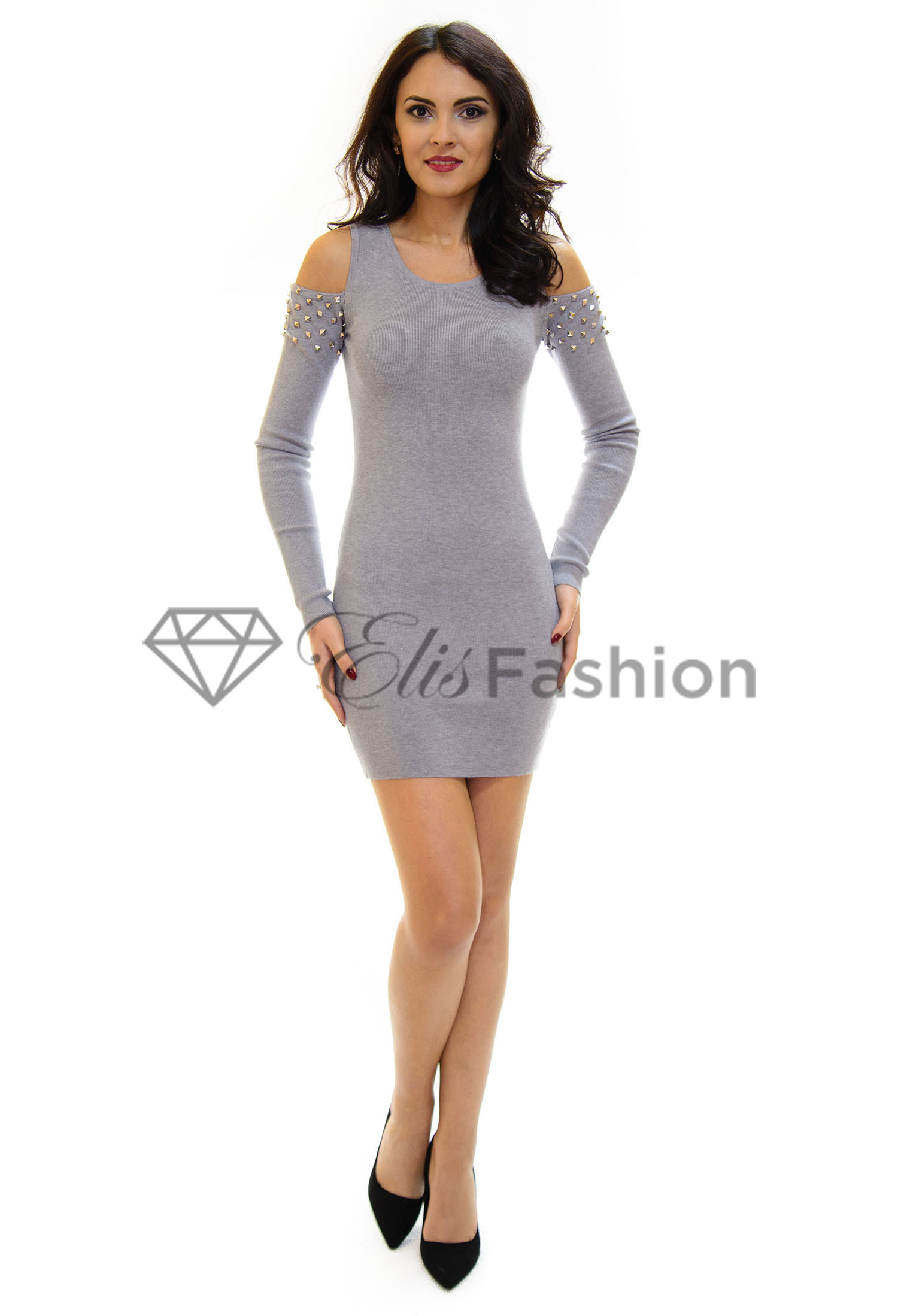 Rochie Tricotata Movable Grey