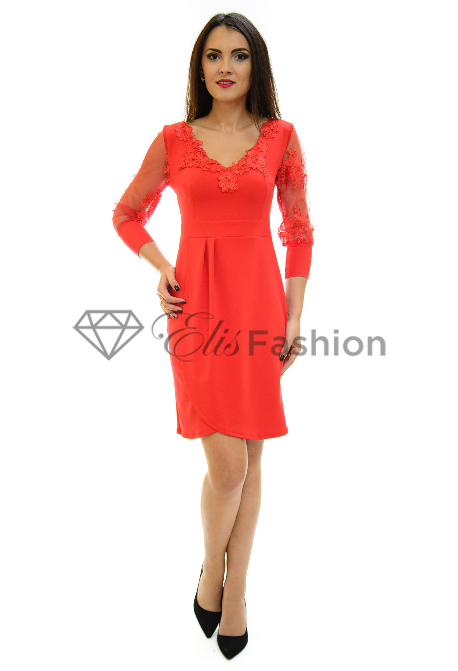 Rochie Fatale Disposition Red