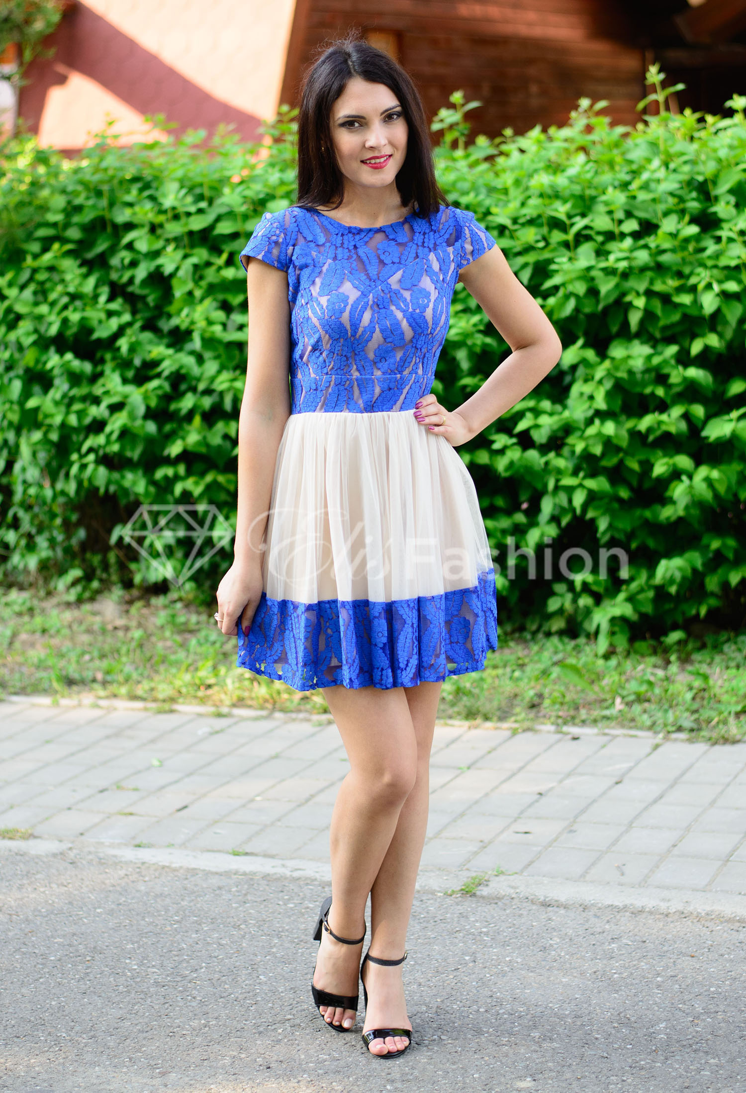 Rochie Ella Collection Treasure Royal Blue