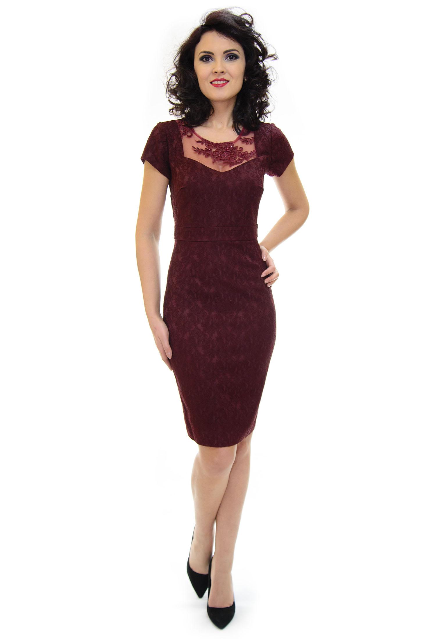 Rochie Ella Collection Destiny Burgundy