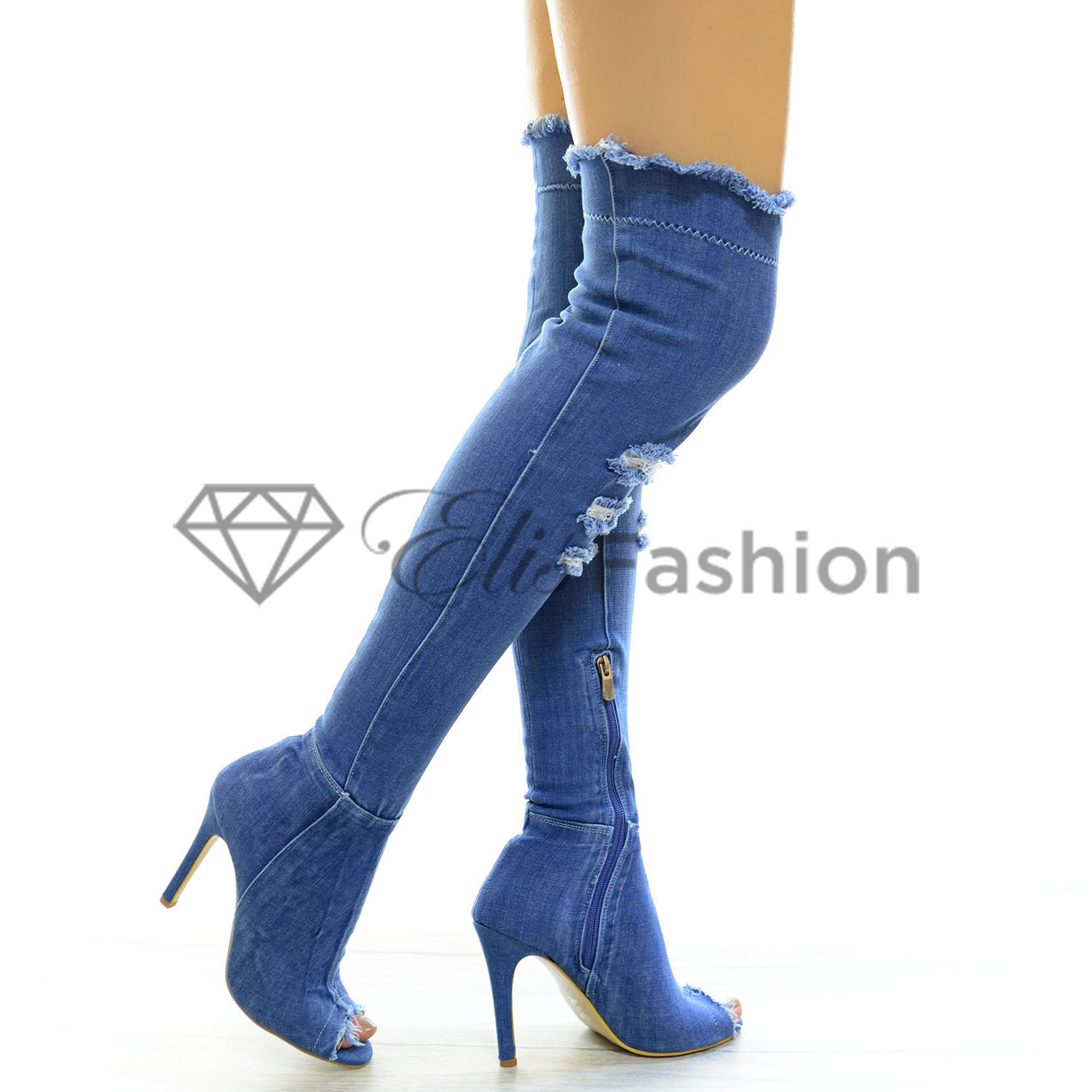 Cizme Gorgeous Blue Jeans #4662